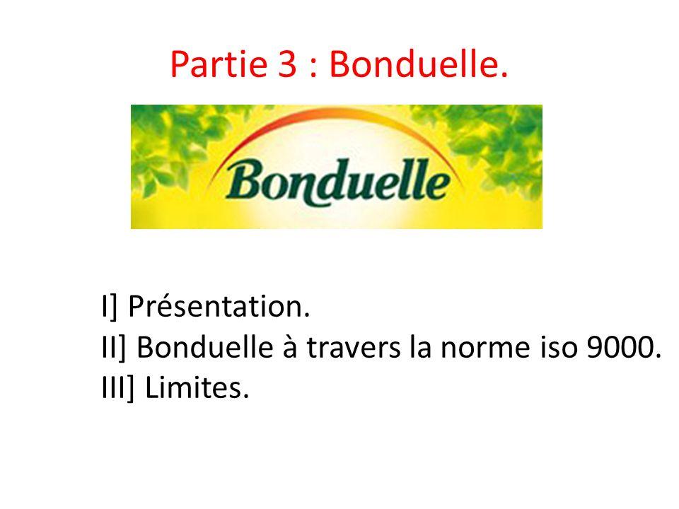 Partie 3 : Bonduelle. I] Présentation.